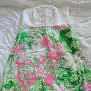 Lilly Pulitzer strapless dress size 4
